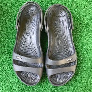 Crocs Cleo slingback sandal black size 10
